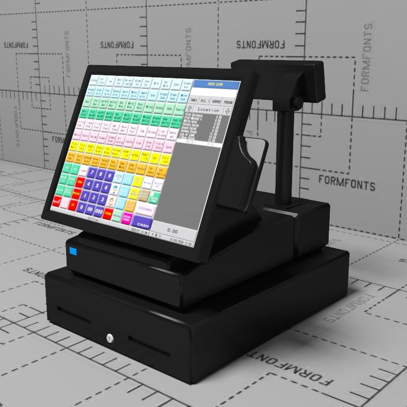 Cash Register 3d Model Formfonts 3d Models Amp Textures