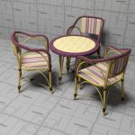Rattan and bentwood cafe chair and 