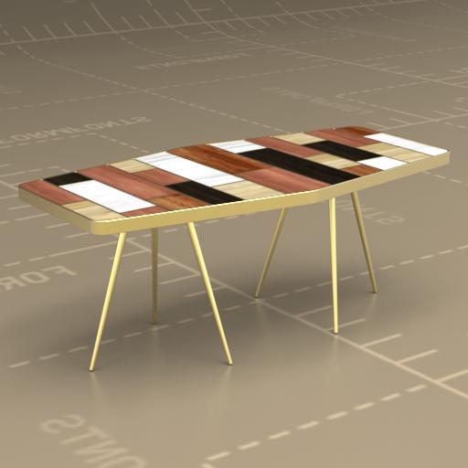 Roar Rabbit Patchwork Coffee Table 3D Model