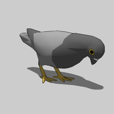 Low poly pigeons. For airborne, 