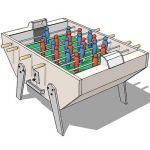 Good old table soccer game,