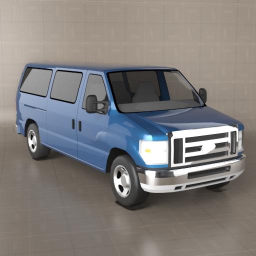 Ford Econoline Passenger 3D Model
