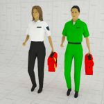 A range of female paramedics.