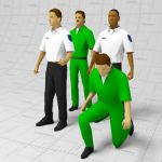 Uniformed figures / paramedics