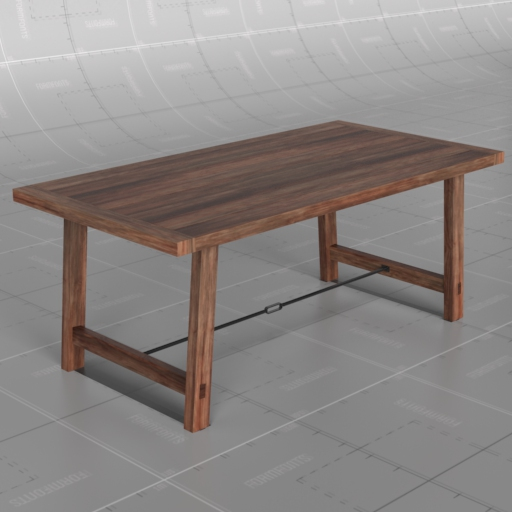 Benchwright Fixed Dining Table: Benchwright Fixed Table 3D Model