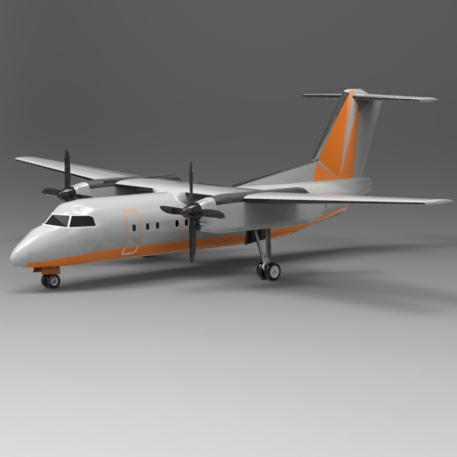 Bombardier Dash 8 Series 100 3D Model - FormFonts 3D Models
