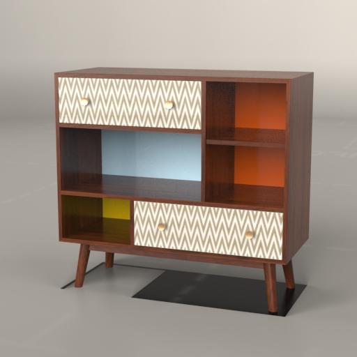 Ana Vintage Cabinet 3D Model - FormFonts 3D Models & Textures