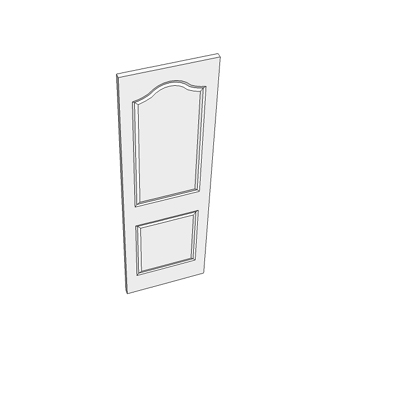 610 two panel door with curved head.