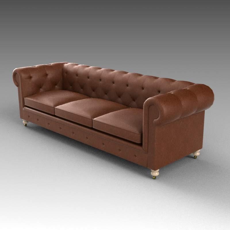 Petite Kensington Sofa 3d Model Formfonts 3d Models