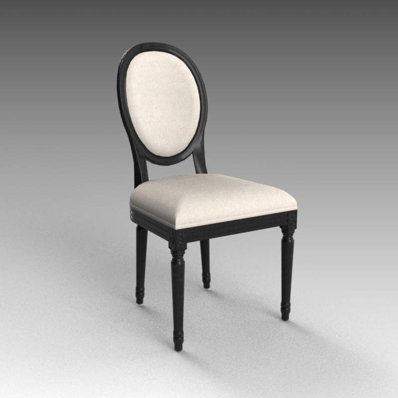 French Side Chair 3d Model