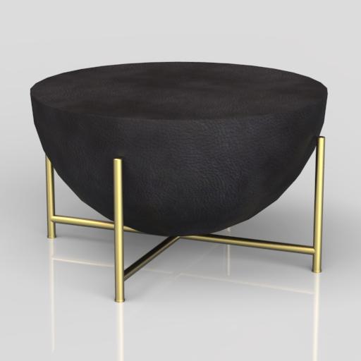 Cb2 Darbuka Brass Coffee Table: Darbuka Brass Coffee Table 3D Model
