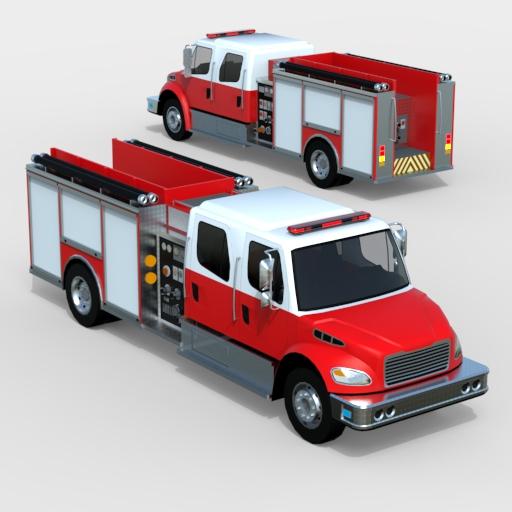 Freightliner Firetruck 3d Model Formfonts 3d Models