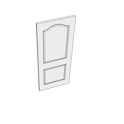 762 two panel door with curved head.