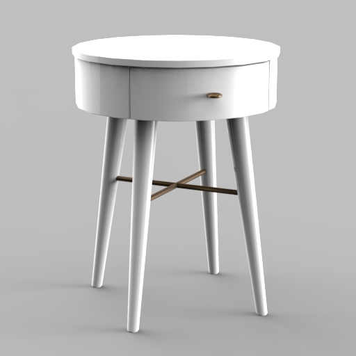 Penelope White Nightstand.