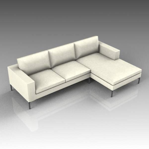 New Standard Chaise 3d Model Formfonts 3d Models Textures