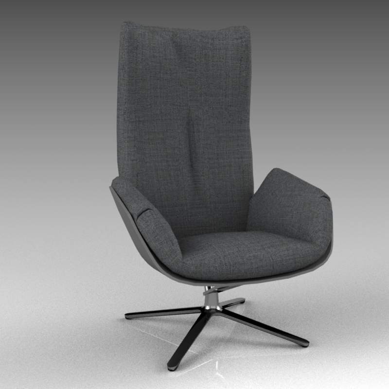 Cordia swivel lounge chair from Cor 