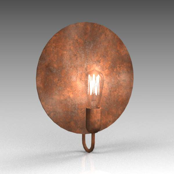 Zambelis wall light #1484. Distressed 
