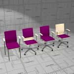 Picco conference and task chairs. Seat shell formp...
