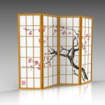 Japanese room divider screen with 