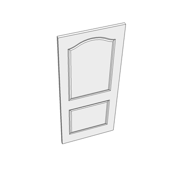 838 two panel door with curved head.
