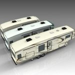 A range of generic 5th wheel RV 