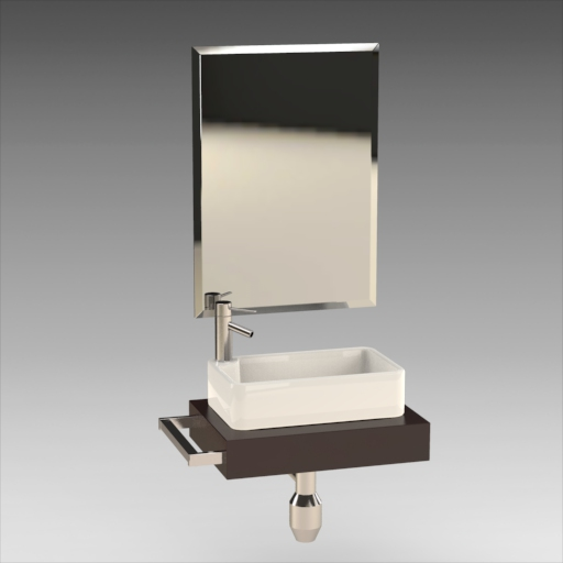 Ceramic Rectangular Vessel Sink.