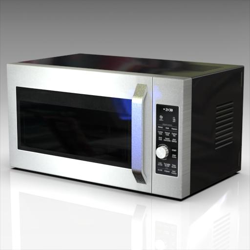 LG Microwave Oven 3D Model - FormFonts 3D Models & Textures