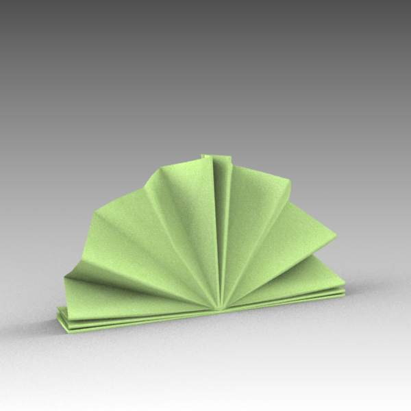 Low poly napkins for table place 