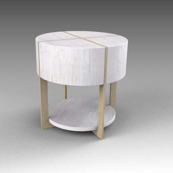 Clifton round coffee table by Z 