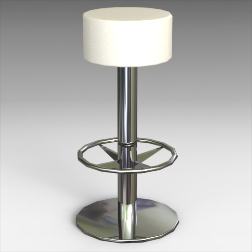 Pleasing Lotus Bar Stool 3D Model Formfonts 3D Models Textures Onthecornerstone Fun Painted Chair Ideas Images Onthecornerstoneorg