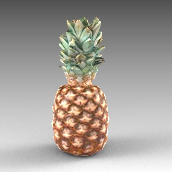 Pineapple in mid and low poly format..