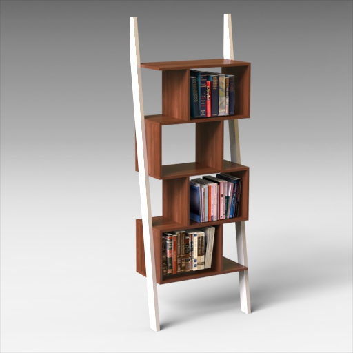 Bostic Ladder Bookcase (Note: books 