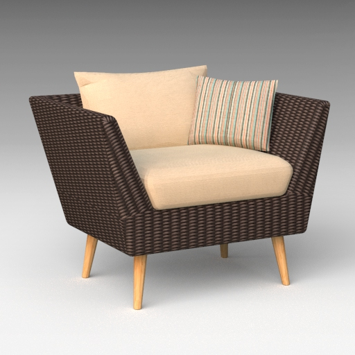 Newbury Eucalyptus Patio Arm Chair.