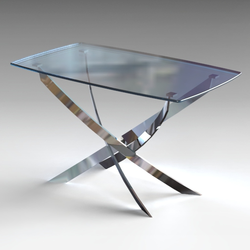 Coraline Glass Dining Table.