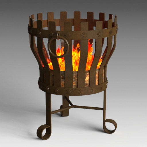 Rustic Fire Pit (fire flames are not 