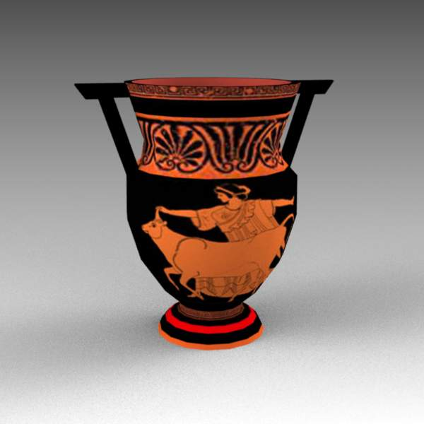 Two vases in Ancient Greek style.