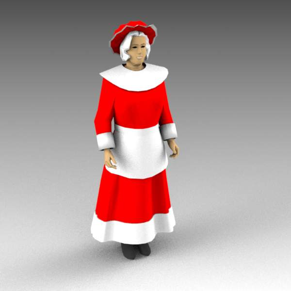 Mrs Claus. Mother Christmas figure.