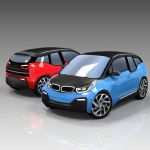 BMW I3 Low Poly Set