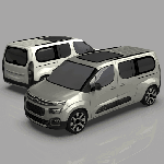 Citroen Berlingo Low Poly Set