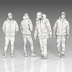 Sketchy Winter People set 1