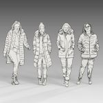 Sketchy Winter People set 3 (female)