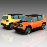 Jeep Renegade Low Poly