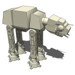 AT-AT Imperial Walker from the Star Wars saga.