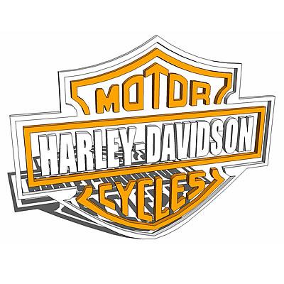 harley davidson logo 3d model formfonts 3d models textures