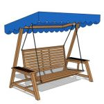 Teak wood finish with canopy