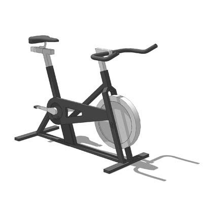 Stationary Exercise Bike 3d Model Formfonts 3d Models