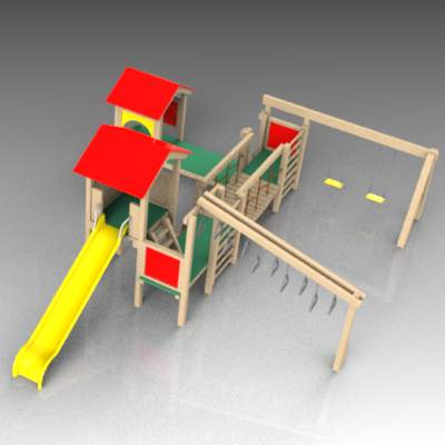 Children's Jungle Gym type adventure playground eq....