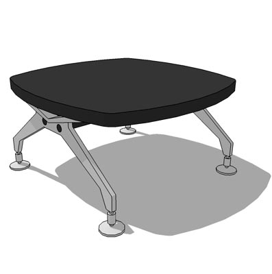 Black lacquered top with steel legs.