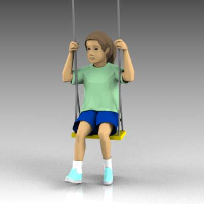 Young child on a swing. Model comes complete with ....