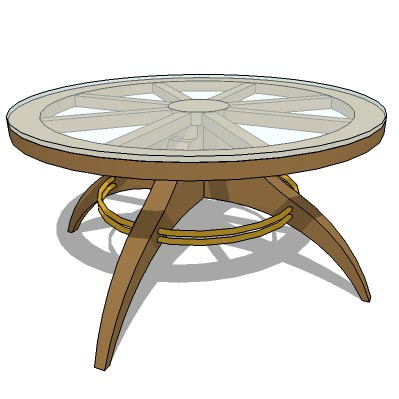 Burmese teak bullock cart wheel design coffee tabl....